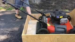 Lawnmower Trailer For A Bicycle