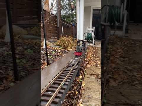 G Scale Aristocraft C16 in the rain Garden Railroad    #shorts