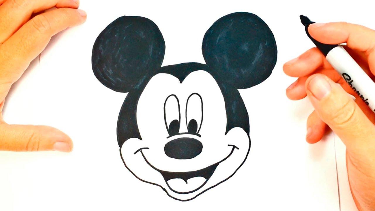 C mo dibujar a mickey mouse paso a paso dibujo f cil de for Comedor facil de dibujar