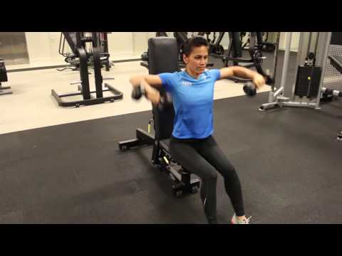Shoulder - Seated DB Side Lateral Raise Variation