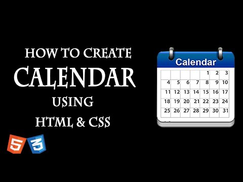 How To Make Calendar In Html