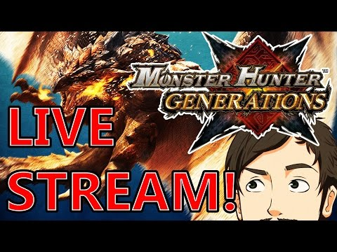 ►Monster Hunter Generations-LIVE STREAM►GEAR GRIND! AND VIEWER HUNT!