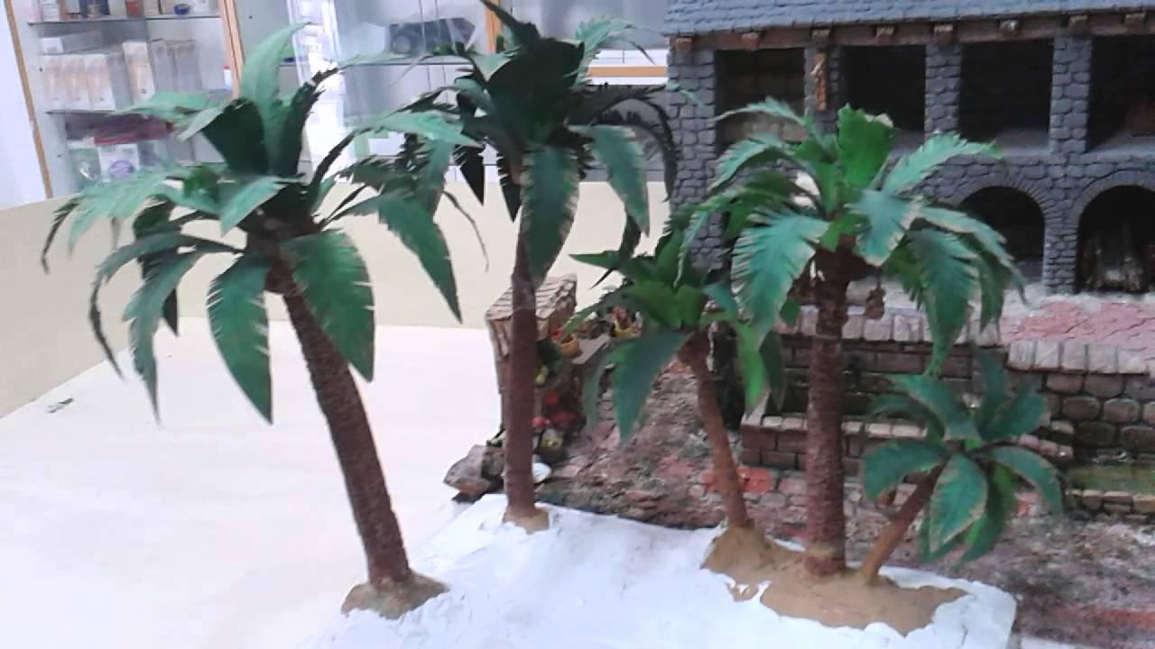 Oasis de palmeras para belen youtube - Como hacer una palmera artificial ...