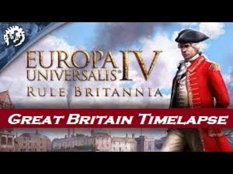 Europa Universalis IV - Rule Britannia DLC - Great Britain Timelapse |