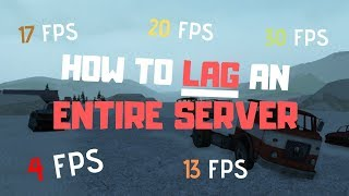 How to LAG a SERVER in Electric State (roblox)