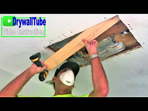 how-to-cut-out-and-install-drywall-on-a-water-damaged-drywall-ceiling