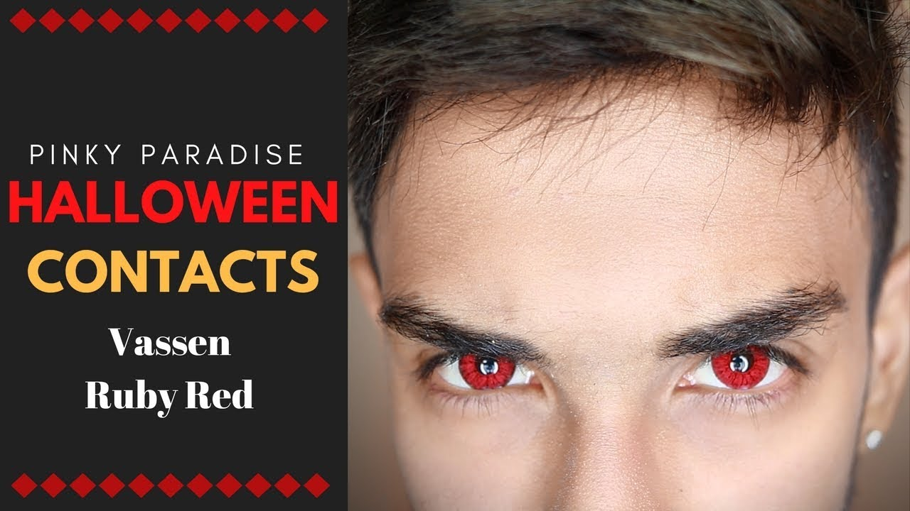 Red Contact Lenses!   For Halloween!