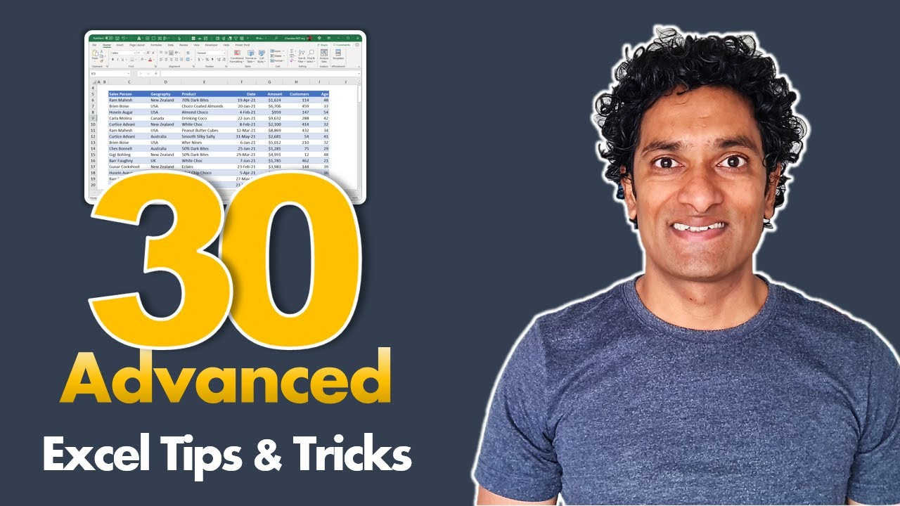 30 *Advanced* Excel Tips & Tricks to make you awesome