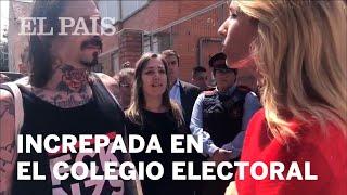 Cayetana Álvarez de Toledo, increpada en su colegio electoral