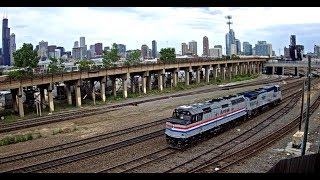 Railfanning Metra, Amtrak, and BNSF at Chicago, IL MH Tower Webcam