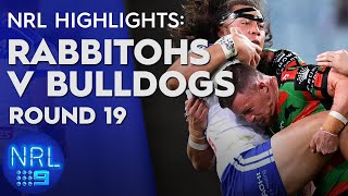 NRL Highlights: Rabbitohs v Bulldogs - Round 19 | NRL on Nine