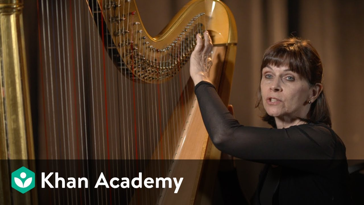Harp Interview And Demonstration With Principal Nancy Allen Music Khan Academy Youtube