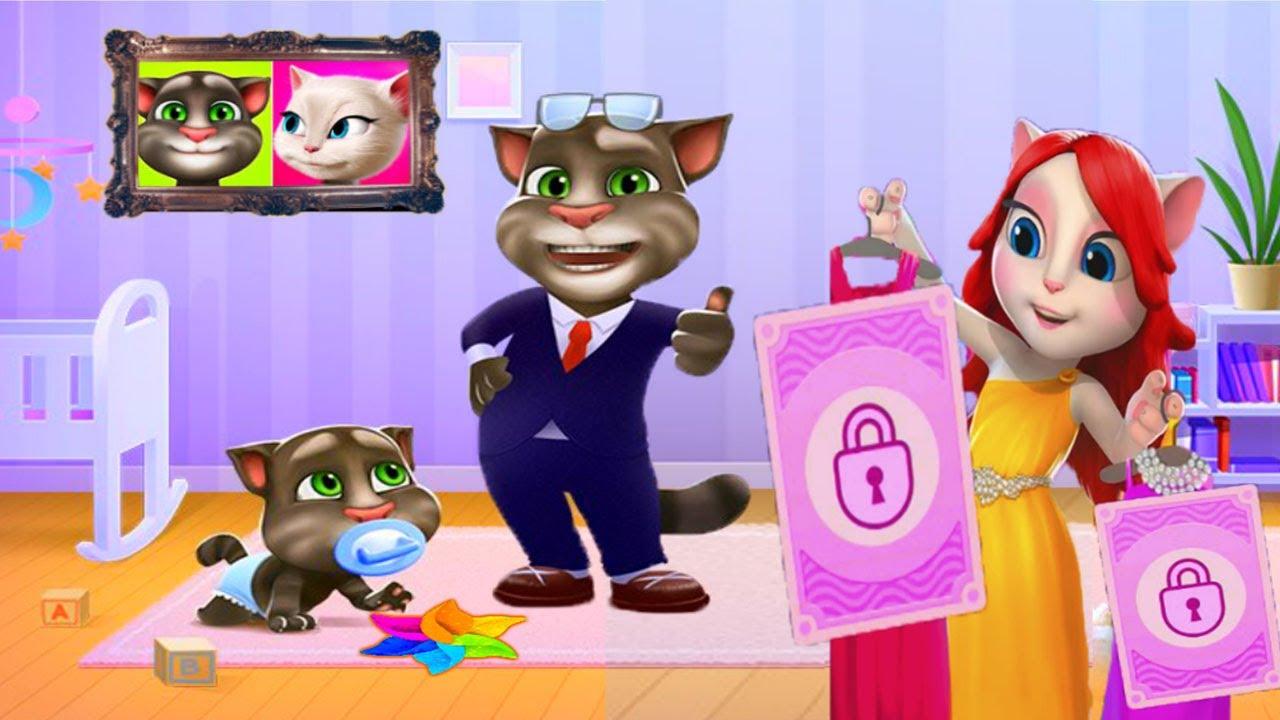Анджела и сестра идут в кино   ГОВОРЯЩАЯ АНДЖЕЛА  Мультик про котиков весёлое видео для детей