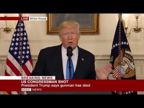 "Virginia Shooting: Trump: ""Guman has died""- BBC News"