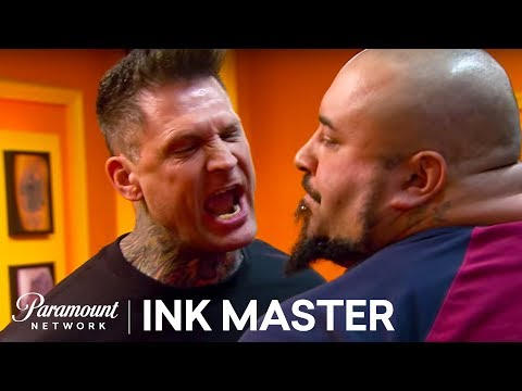 Kyle Goes Nuts On A Returning Human Canvas  Ink Master: Redemption, Season 2