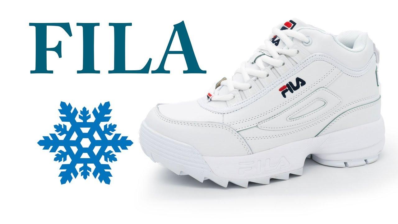 Женские зимние белые кроссовки FILA Disruptor 2 с мехом - YouTube 6ea432985939e