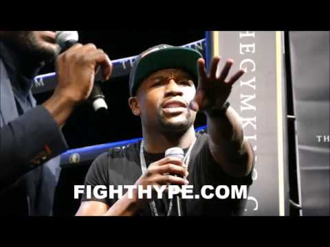 """FLOYD MAYWEATHER ANNOUNCES """"I'M COMING OUT OF RETIREMENT FOR CONOR MCGREGOR...FIGHT ME IN JUNE"""""""