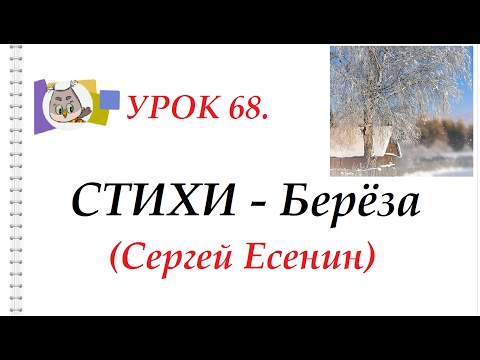 """СТИХИ - Стихотворе́ние С.А. Есенин """"Бе́лая Берёза"""""""