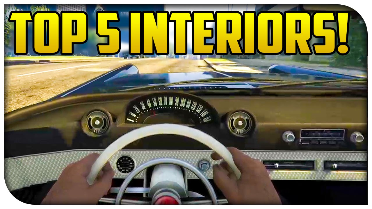 top 5 best car interiors in gta 5 online gta v youtube
