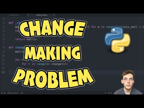 Change Making Problem Tutorial - Intro to Dynamic Programming with Python 3 thumbnail