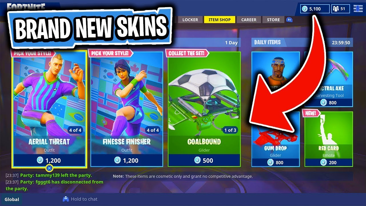 The BRAND NEW WORLD CUP Items In Fortnite: Battle Royale! (Skin Reset #128)