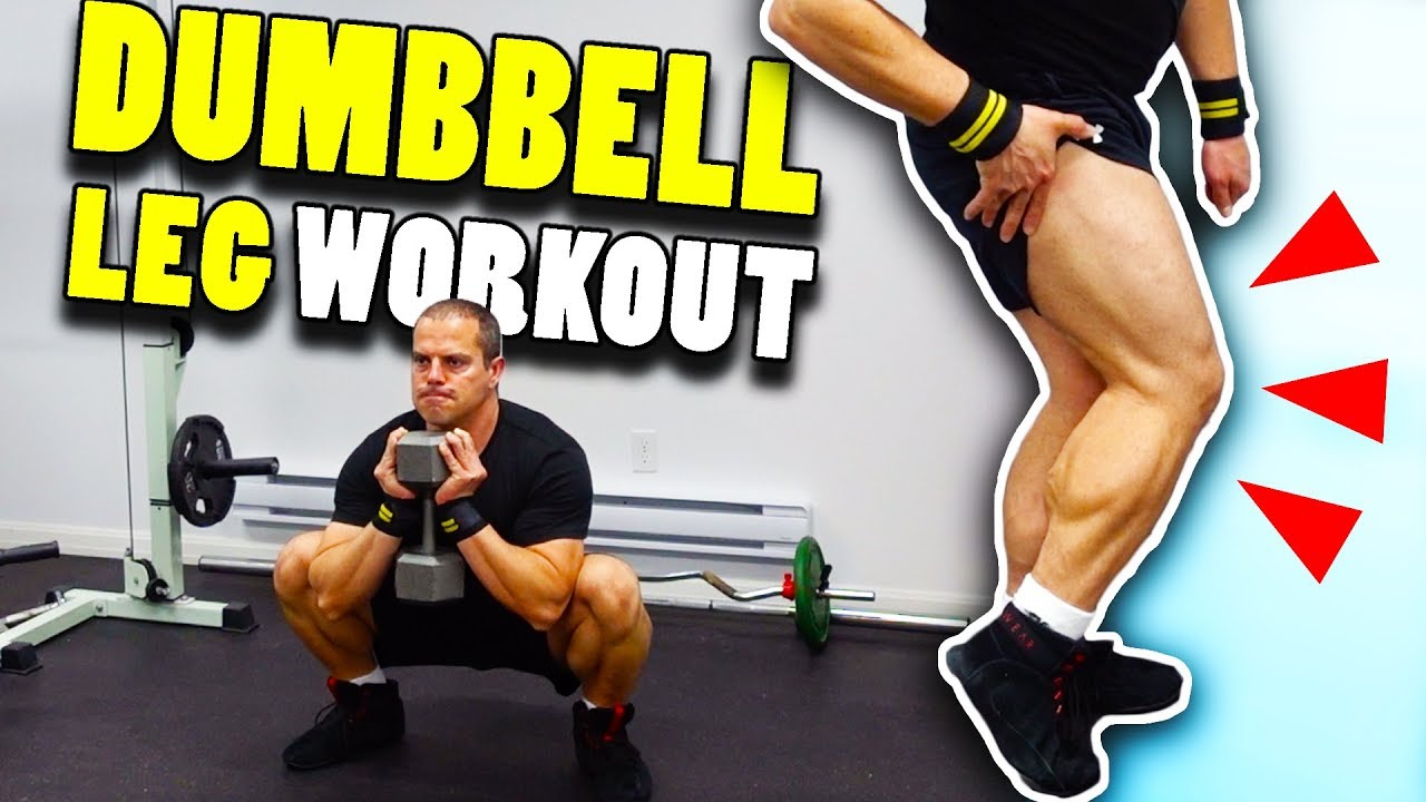 Home Gym Dumbbell Leg Workout How To Build Legs At Home Youtube
