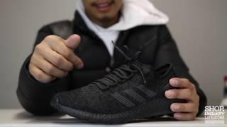 adidas pureboost ltd triple black unboxing video at exclucity