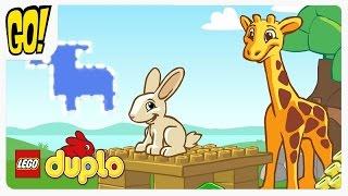Лего Дупло собираем фигуры Животных из деталей Lego играем вместе с Best Kids Apps