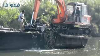 بالفيديو: حملة مكبرة لازالة الاقفاص السمكية بنهر النيل بمحافظة البحيرة