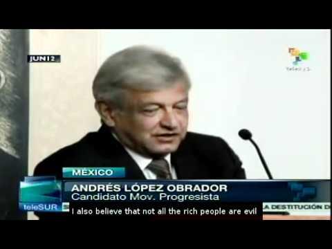 Profile of leftist candidate Andres Manuel Lopez Obrador