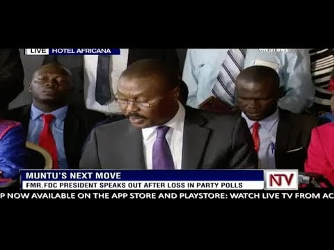 Former FDC president Muntu calls for dialogue after fractured polls