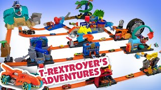 T-Rex Loose in Giant Hot Wheels City 14-in-1 Play Sets!