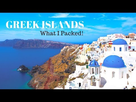EF Ultimate Greek Islands Travel Guide: What I packed !