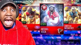 OMG 100+ OVR MIKE VICK IN NEW YEARS MASTER PACK OPENING! Madden Mobile 18 Gameplay Ep. 24