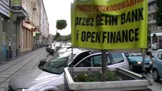 Protest (18dzień) pod Open Finance w Częstochowie 2014.08.08r.