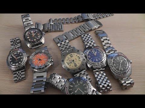 Обзор разных часовых браслетов из нержавейки (22мм) #3