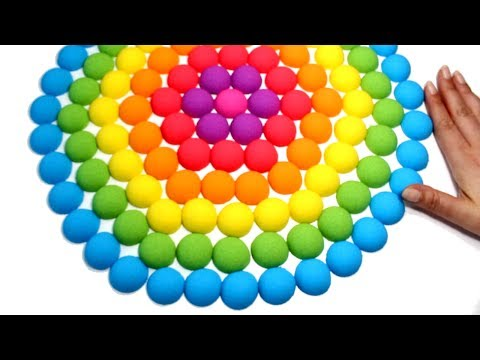Thumbnail: DIY Kinetic Sand Rainbow Flower Learn Colors Kinetic Sand Video Compilation for Kids