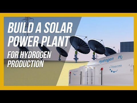 Solar Power Plant for Hydrogen Production