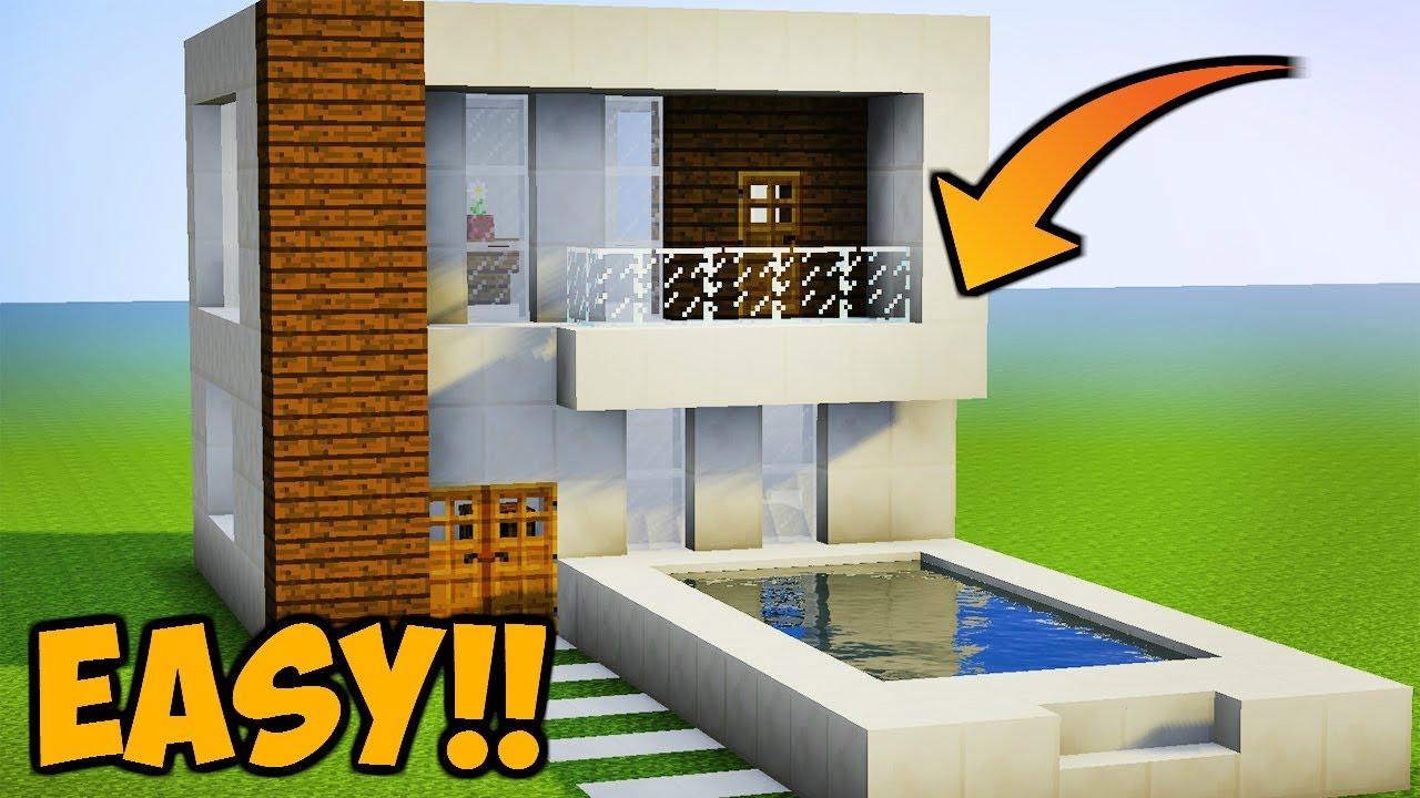 Minecraft Tutorial Cara Membuat Rumah Modern 11 Youtube
