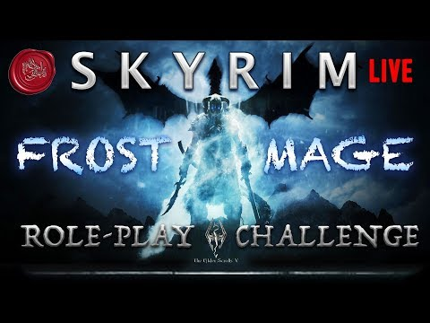 The Elder Scrolls V: Skyrim LIVE! | Frost Mage Role-Play Challenge! thumbnail