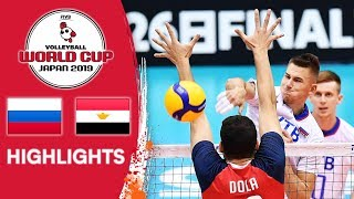 RUSSIA vs. EGYPT - Highlights | Men's Volleyball World Cup 2019