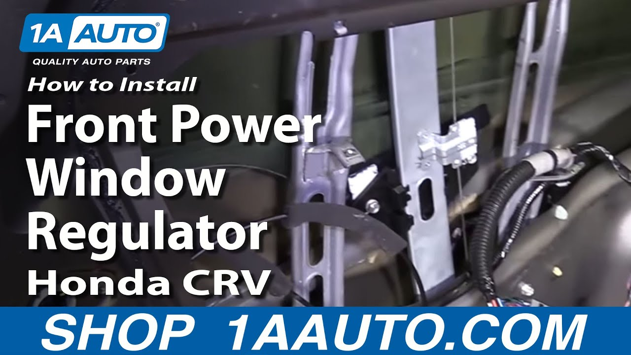 how to install replace front power window regulator honda