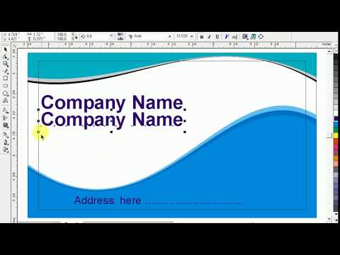 How to create a business card in CorelDRAW