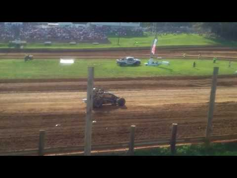 USAC Sprint Car Qualifying Part 1/2  Lincoln Park Speedway