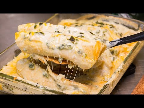 Roasted Poblano Chicken Enchiladas Recipe - Episode 75