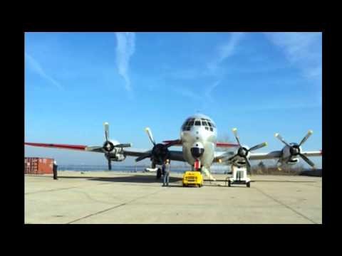 C-97 run up at Floyd Bennett Field