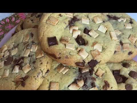 cookies-américains-moelleux-aux-pépites-de-chocolat-et-coeur-nutella-recette-facile