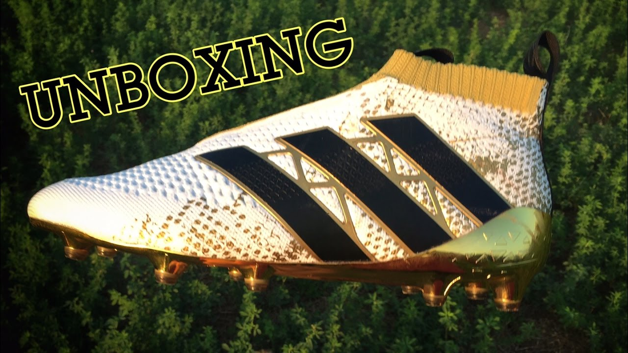 buy popular 35c3e d38e9 New Pogba Boots!! Adidas ACE 16+ PURECONTROL STELLAR PACK-GOLD Unboxing 2016