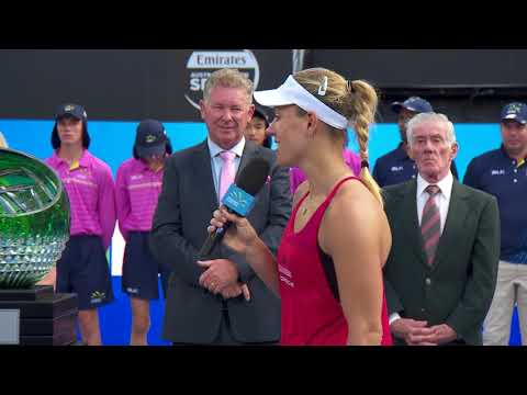 Kerber and Barty's on court interviews (Final) | Sydney International 2018