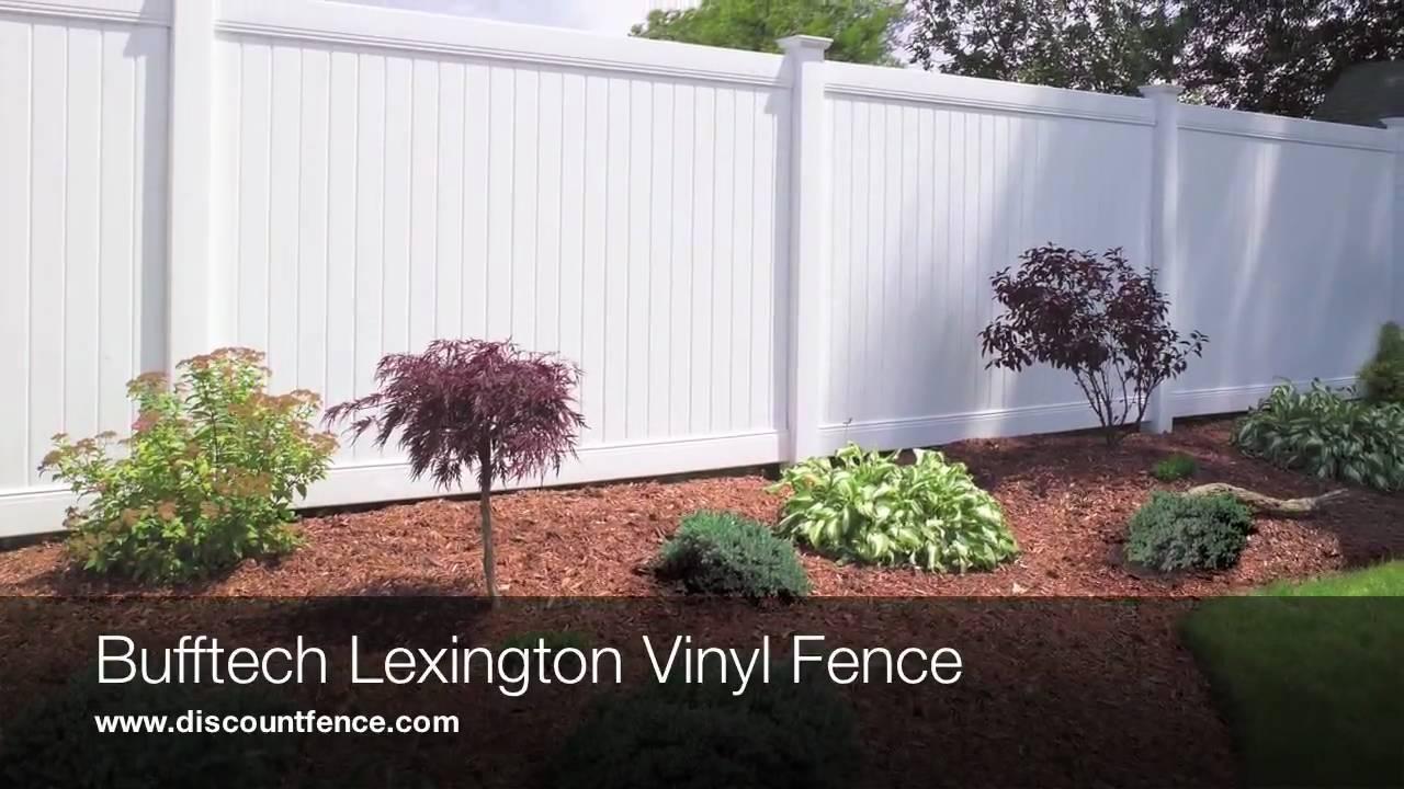 Bufftech Lexington Full Privacy Vinyl Fence Youtube